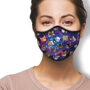 IN STOCK FAST SHIP Space Cats Fashion Face Mask